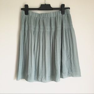 Reserved Pistachio Silver Dot Accent Skirt